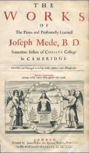 Title Page to Joseph Mede'sWorks.